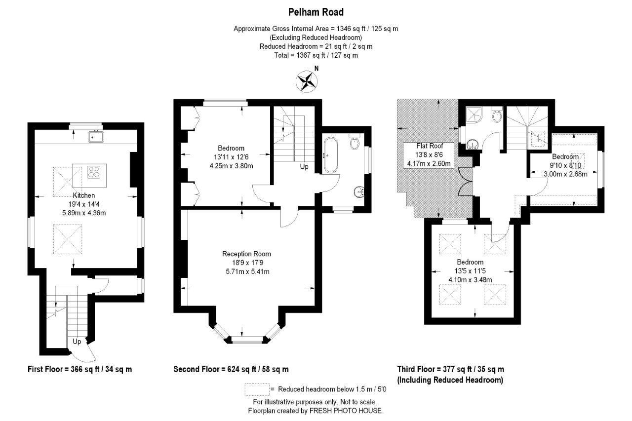 Floorplan for Pelham Road, Wimbledon